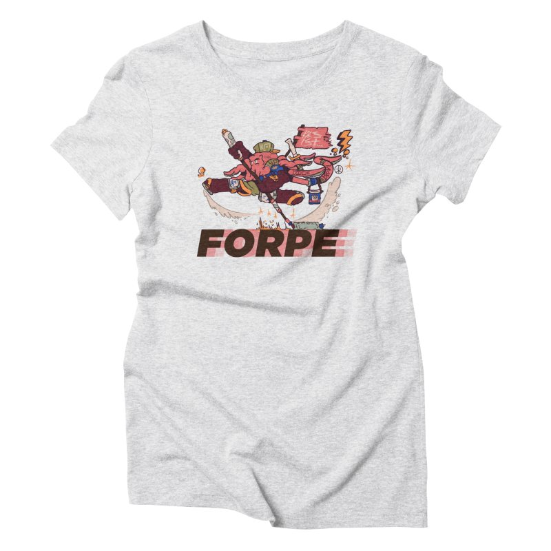 Kung Fu Forpe Women's Triblend T-Shirt by forpe's Artist Shop