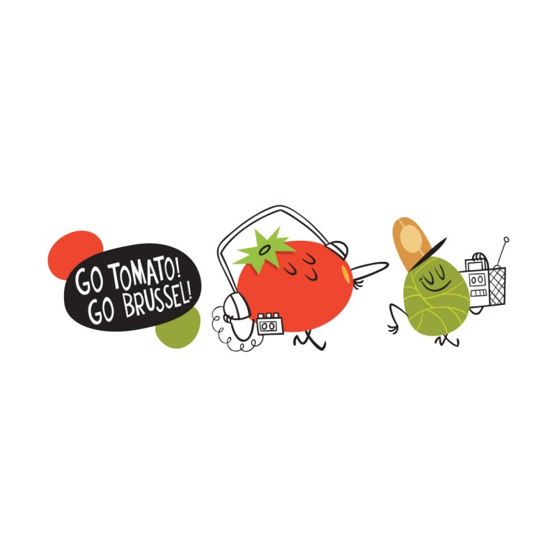 Go Tomato! Go Brussel! by Foster Animation's Artist Shop