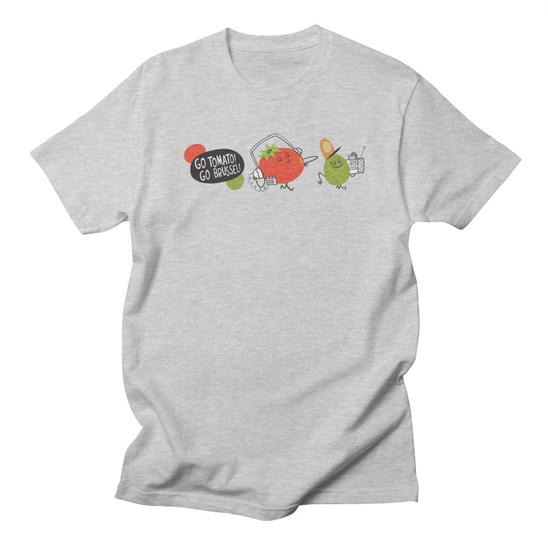 Go Tomato! Go Brussel! Men's T-shirt by Foster Animation's Artist Shop