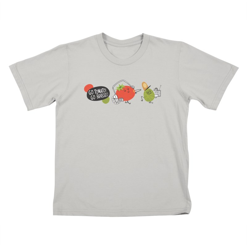 Go Tomato! Go Brussel! Kids T-shirt by Foster Animation's Artist Shop