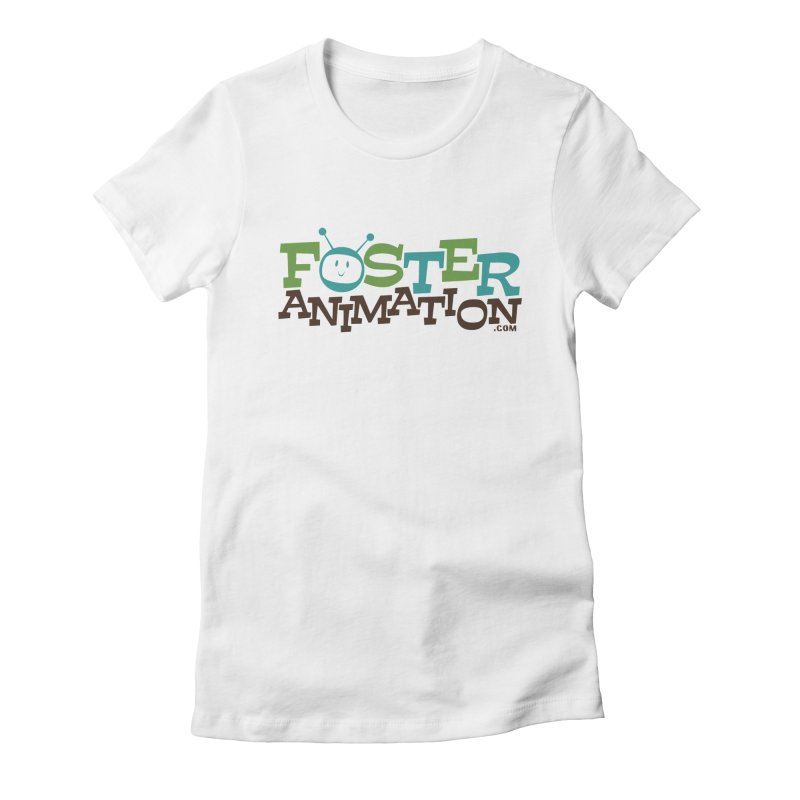 Foster Animation Logo Women's Fitted T-Shirt by Foster Animation's Artist Shop
