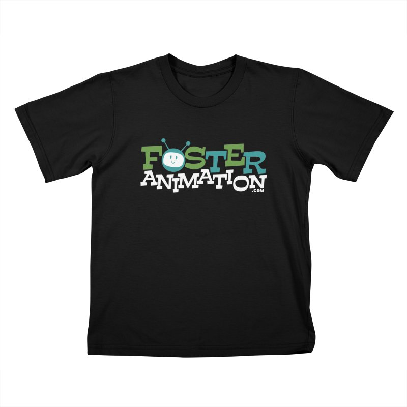 Foster Animation Logo (Dark Shirts) Kids T-shirt by Foster Animation's Artist Shop