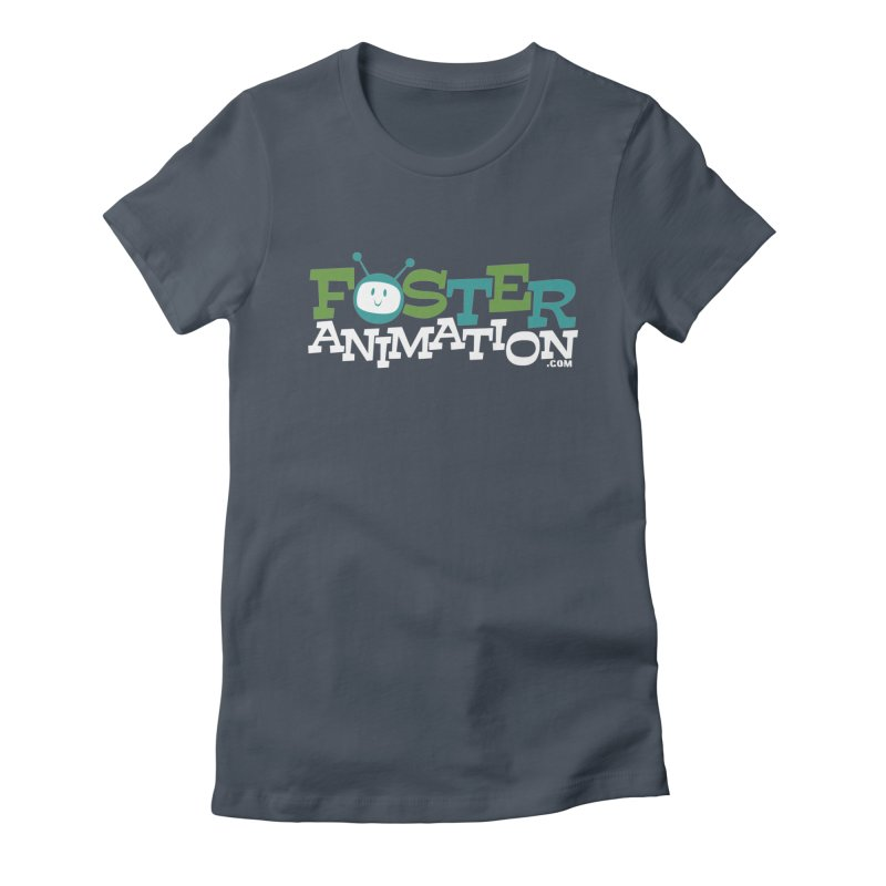 Foster Animation Logo (Dark Shirts) Women's Fitted T-Shirt by Foster Animation's Artist Shop