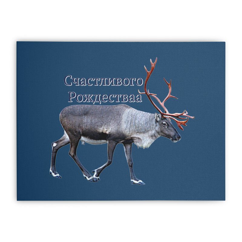 Merry Christmas Home Stretched Canvas by FotoJarmo's Shop