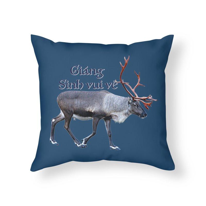 Merry Christmas Home Throw Pillow by FotoJarmo's Shop