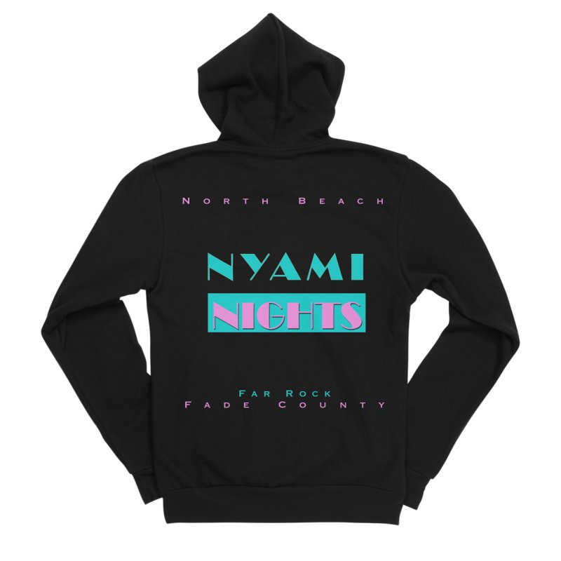 NYami Nights Women's Sponge Fleece Zip-Up Hoody by foulal's Artist Shop
