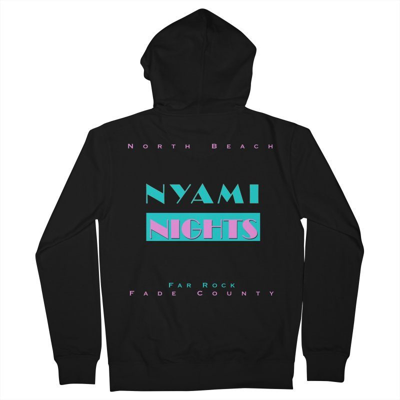 NYami Nights Men's French Terry Zip-Up Hoody by foulal's Artist Shop