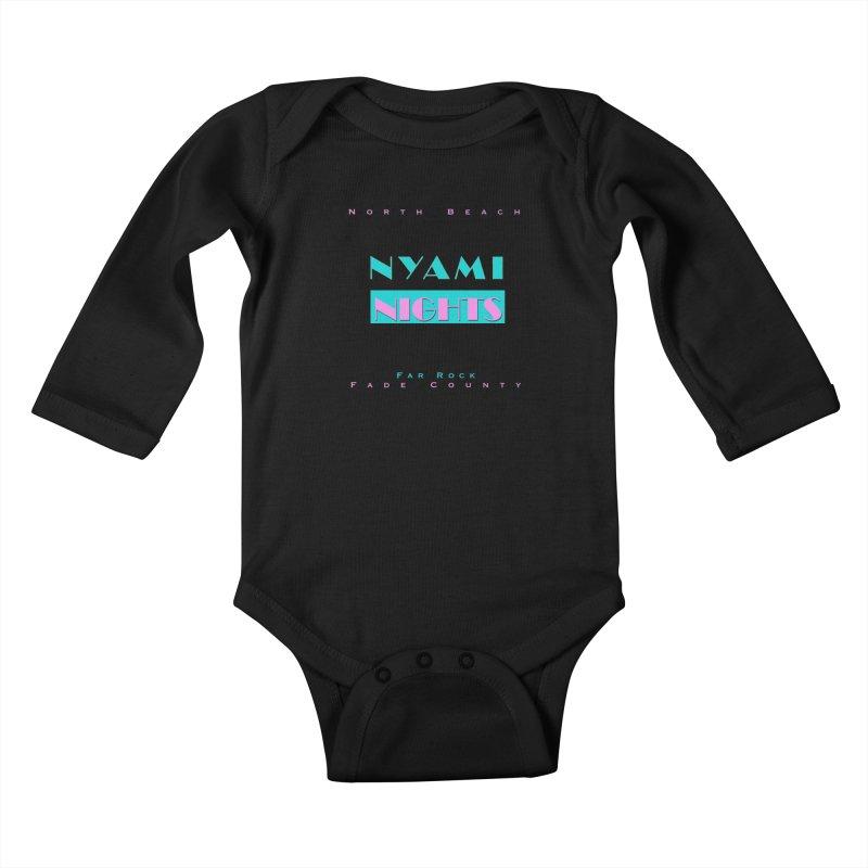 NYami Nights Kids Baby Longsleeve Bodysuit by foulal's Artist Shop