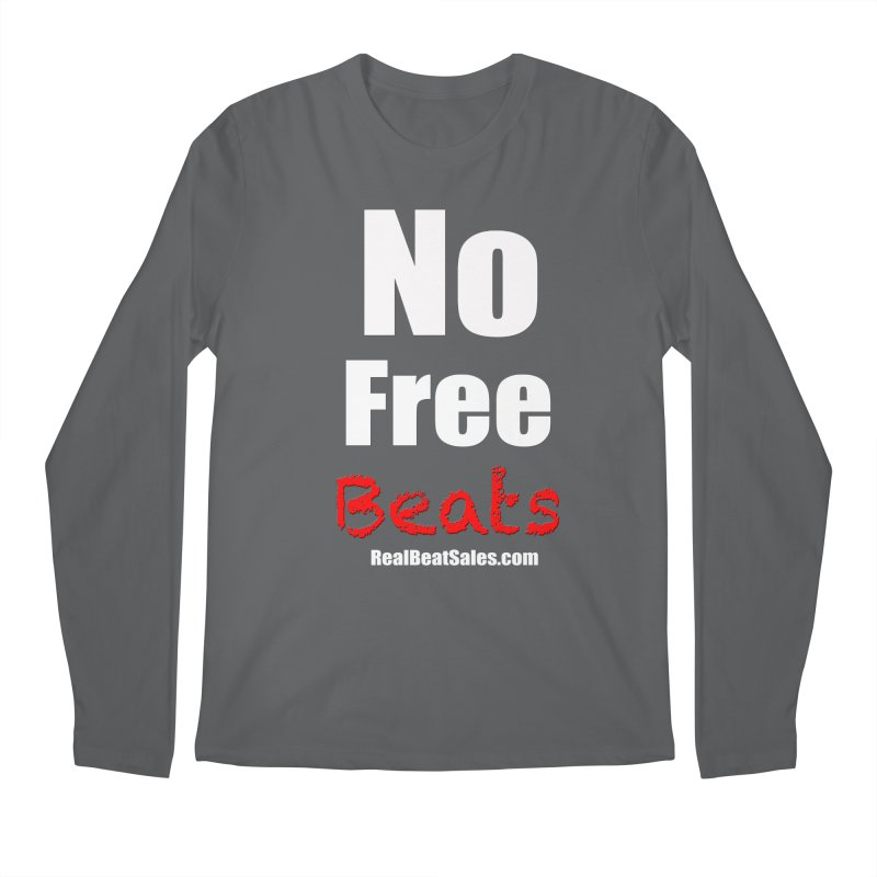 Black No Free Beats Men's Longsleeve T-Shirt by foulal's Artist Shop