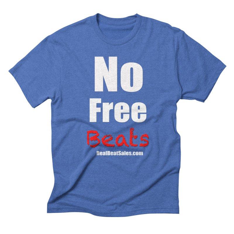 Black No Free Beats Men's T-Shirt by foulal's Artist Shop