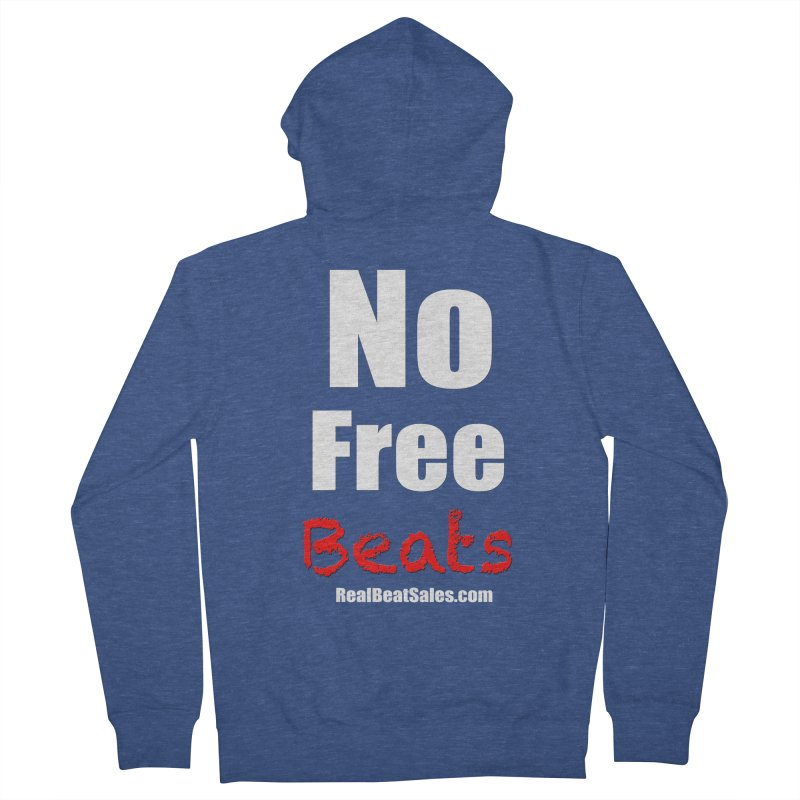 Black No Free Beats Men's Zip-Up Hoody by foulal's Artist Shop