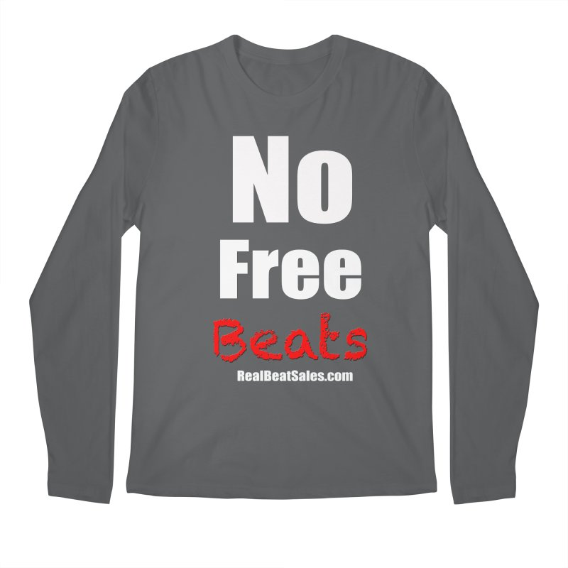 Black No Free Beats Men's Longsleeve T-Shirt by foulal's Artist Shop