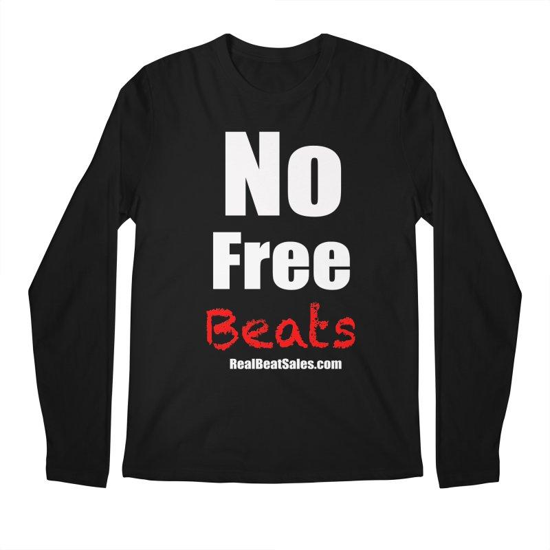 Black No Free Beats Men's Regular Longsleeve T-Shirt by foulal's Artist Shop