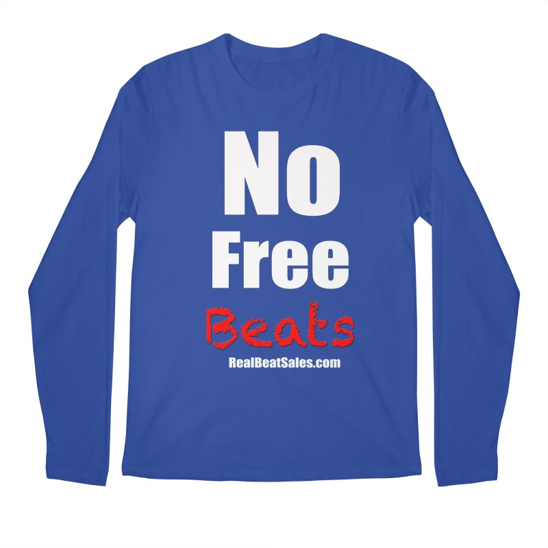 Black No Free Beats Men's Regular Longsleeve T-Shirt by foulal's Artist Shop