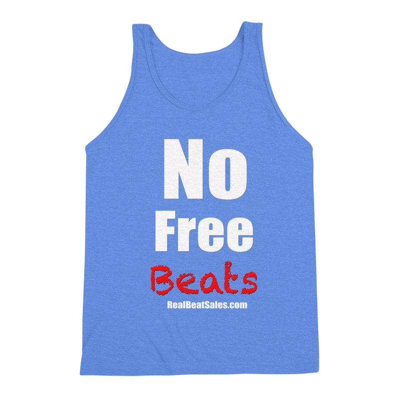 Black No Free Beats Men's Triblend Tank by foulal's Artist Shop