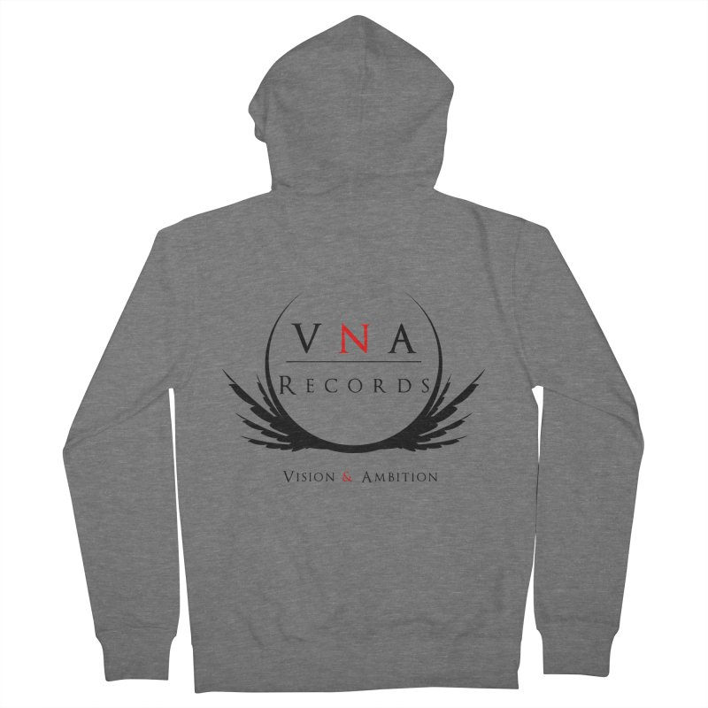 VNA Records White Women's French Terry Zip-Up Hoody by foulal's Artist Shop