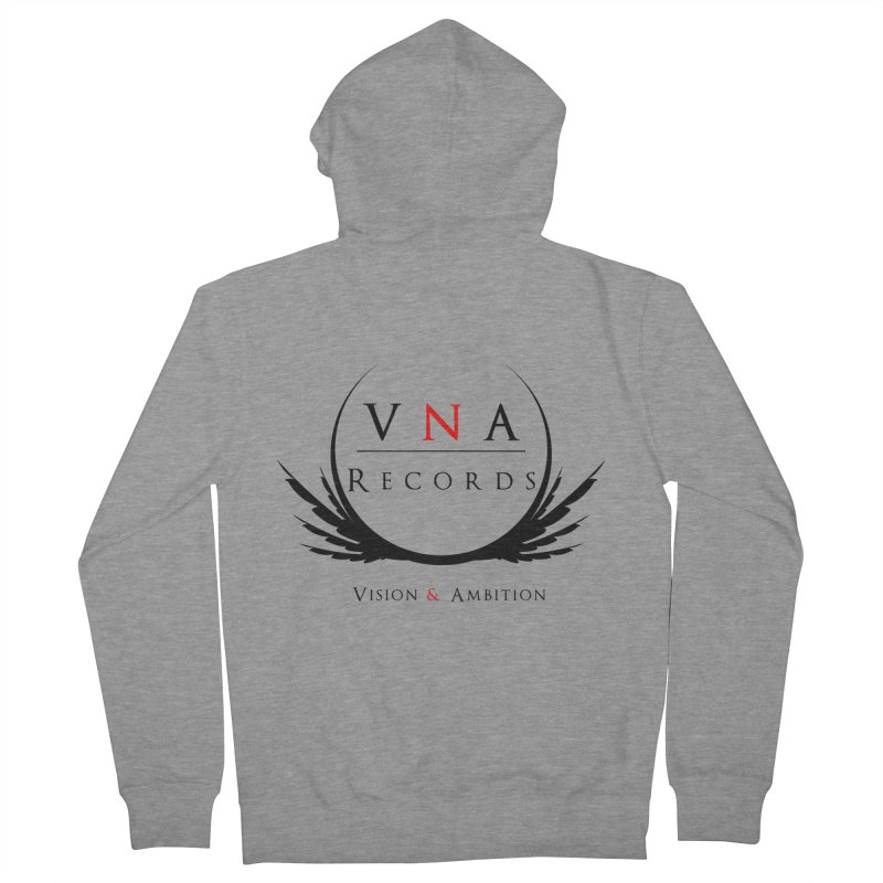 VNA Records White Men's French Terry Zip-Up Hoody by foulal's Artist Shop