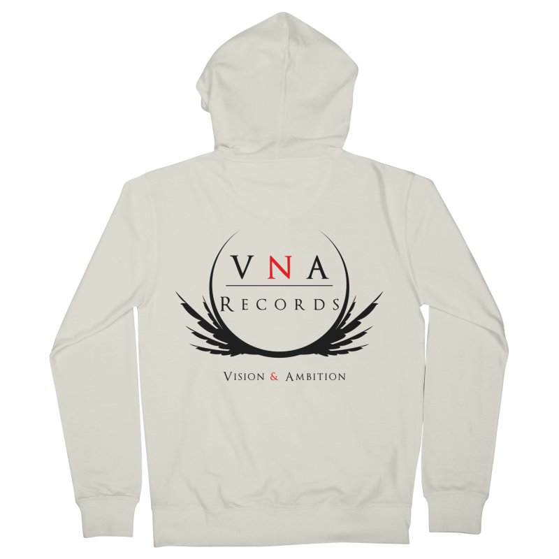 VNA Records White Men's Zip-Up Hoody by foulal's Artist Shop