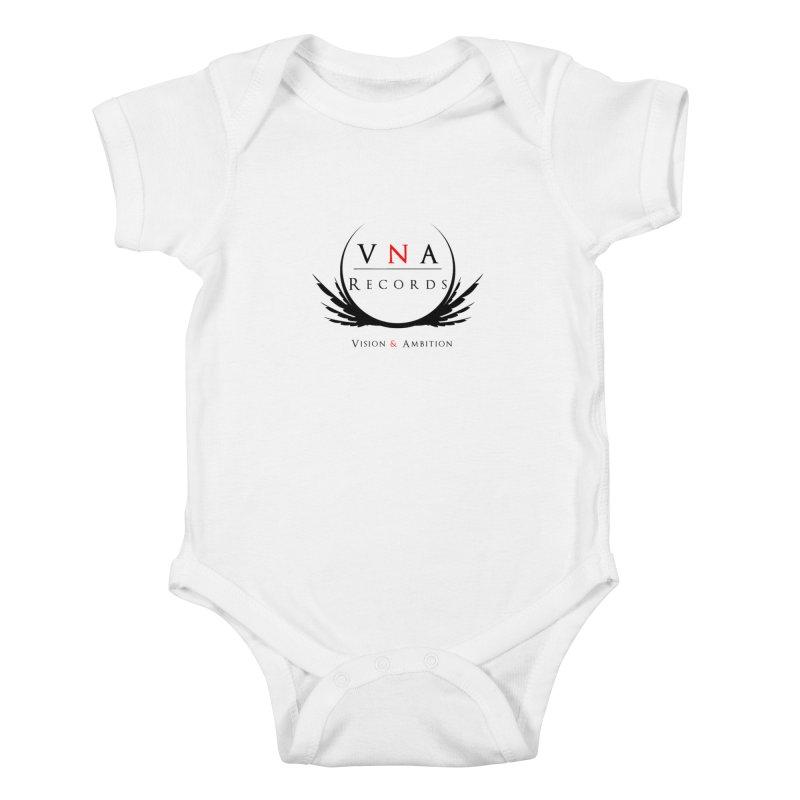 VNA Records White Kids Baby Bodysuit by foulal's Artist Shop
