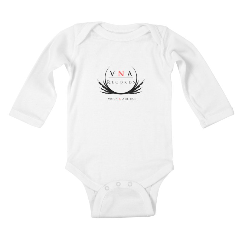 VNA Records White Kids Baby Longsleeve Bodysuit by foulal's Artist Shop
