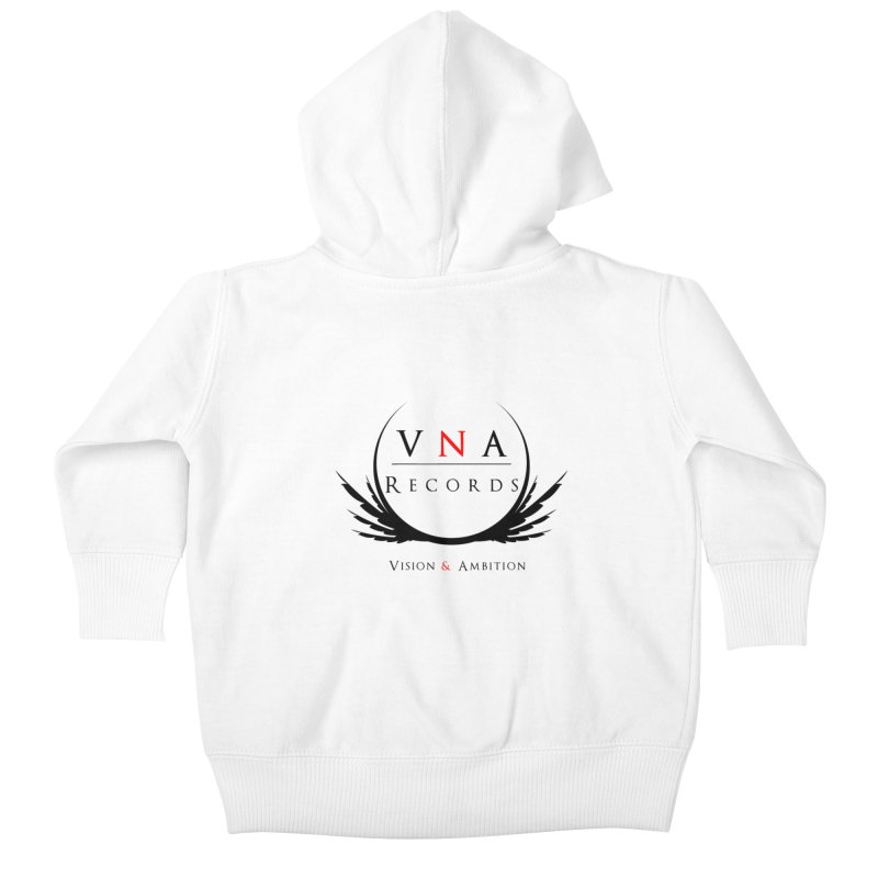 VNA Records White Kids Baby Zip-Up Hoody by foulal's Artist Shop