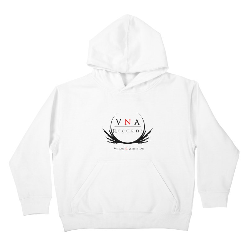VNA Records White Kids Pullover Hoody by foulal's Artist Shop