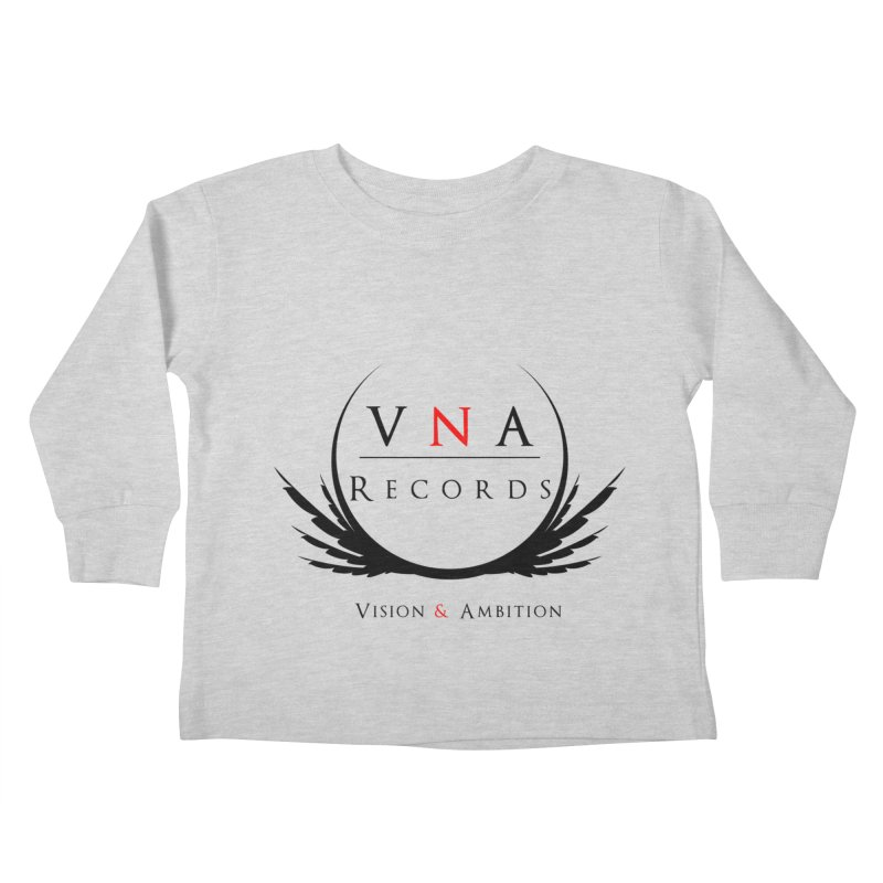 VNA Records White Kids Toddler Longsleeve T-Shirt by foulal's Artist Shop