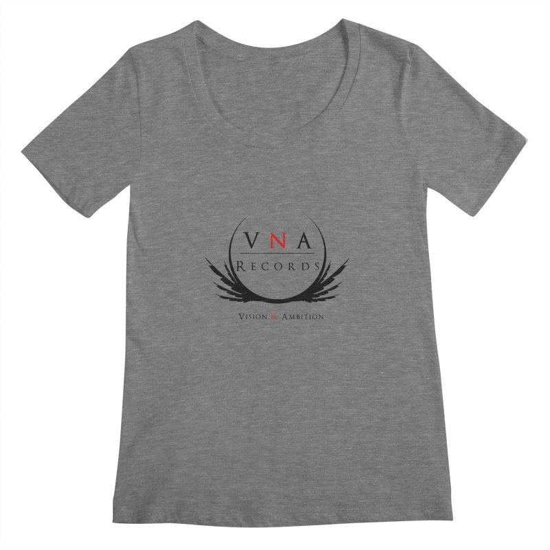 VNA Records White Women's Scoopneck by foulal's Artist Shop