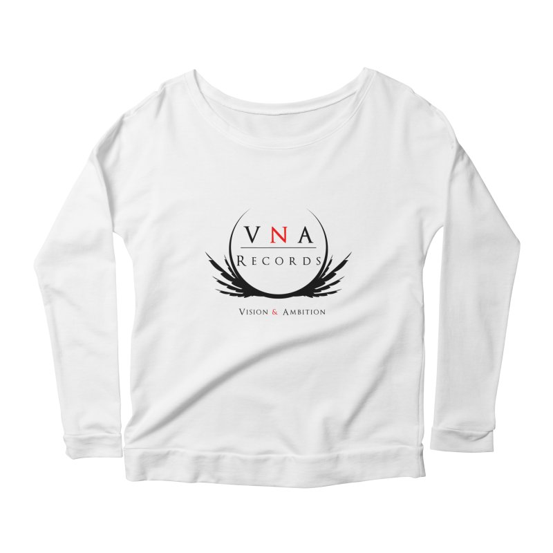 VNA Records White Women's Scoop Neck Longsleeve T-Shirt by foulal's Artist Shop