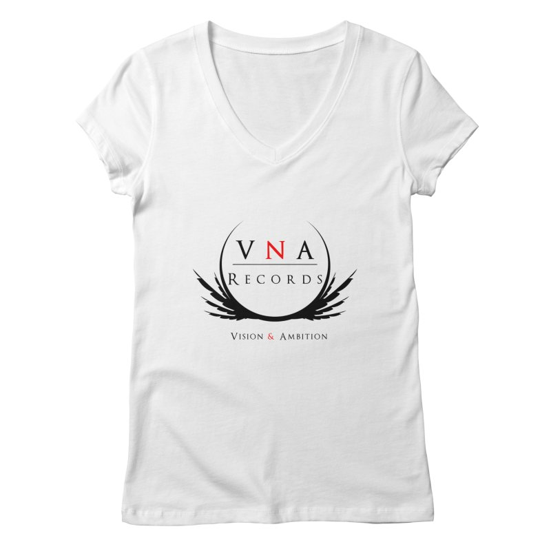 VNA Records White Women's Regular V-Neck by foulal's Artist Shop