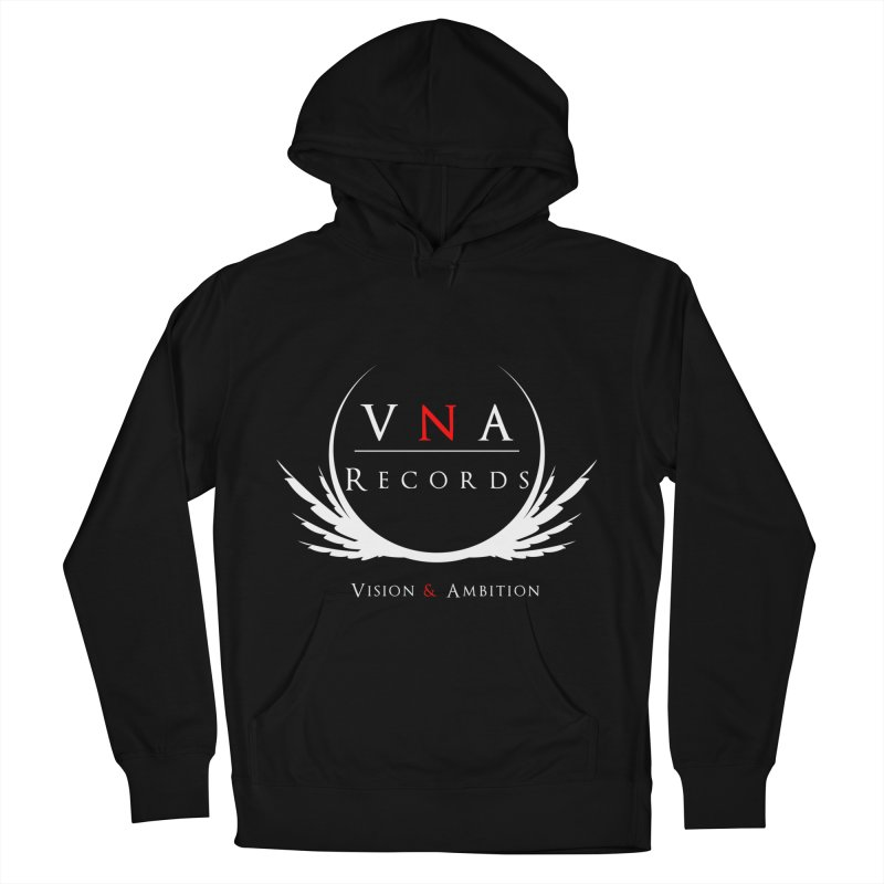 VNA Records Tee Black Men's French Terry Pullover Hoody by foulal's Artist Shop