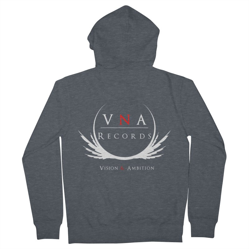 VNA Records Tee Black Women's French Terry Zip-Up Hoody by foulal's Artist Shop