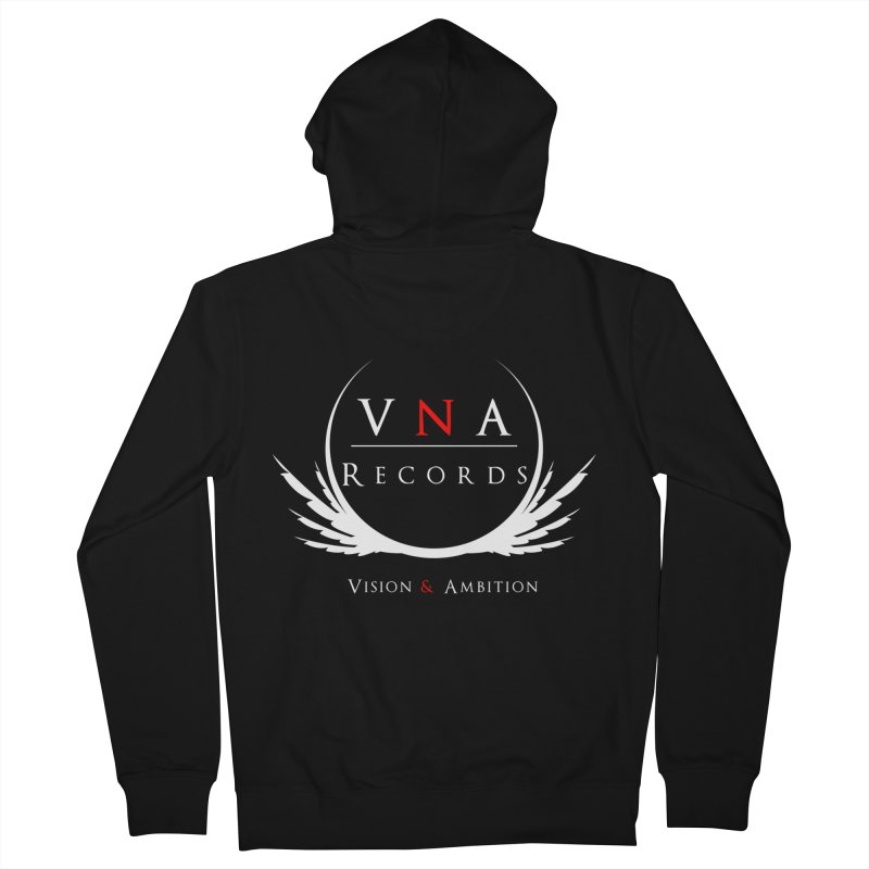 VNA Records Tee Black Men's Zip-Up Hoody by foulal's Artist Shop