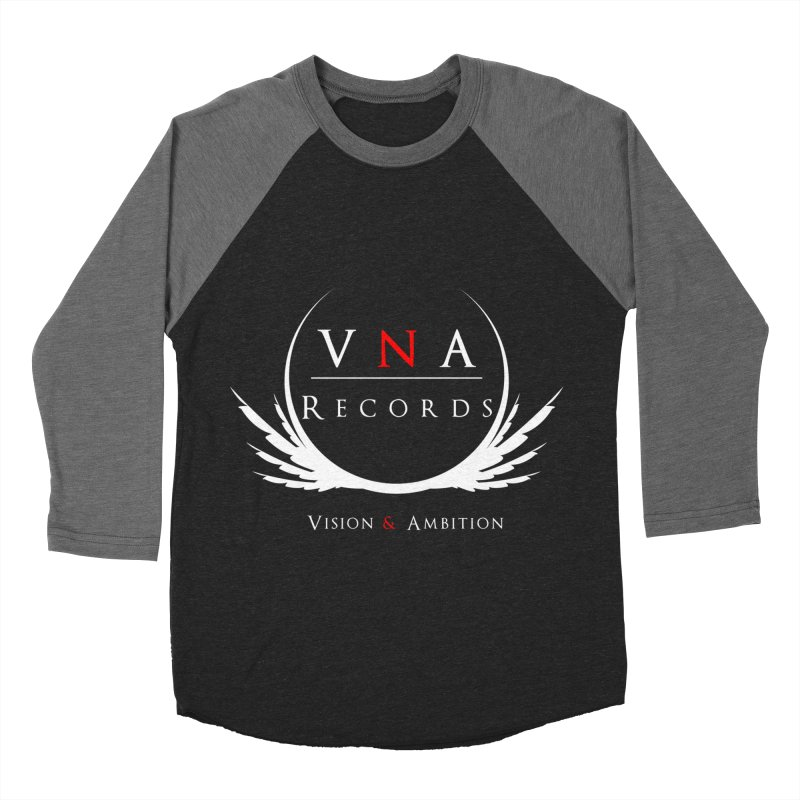 VNA Records Tee Black Men's Baseball Triblend T-Shirt by foulal's Artist Shop