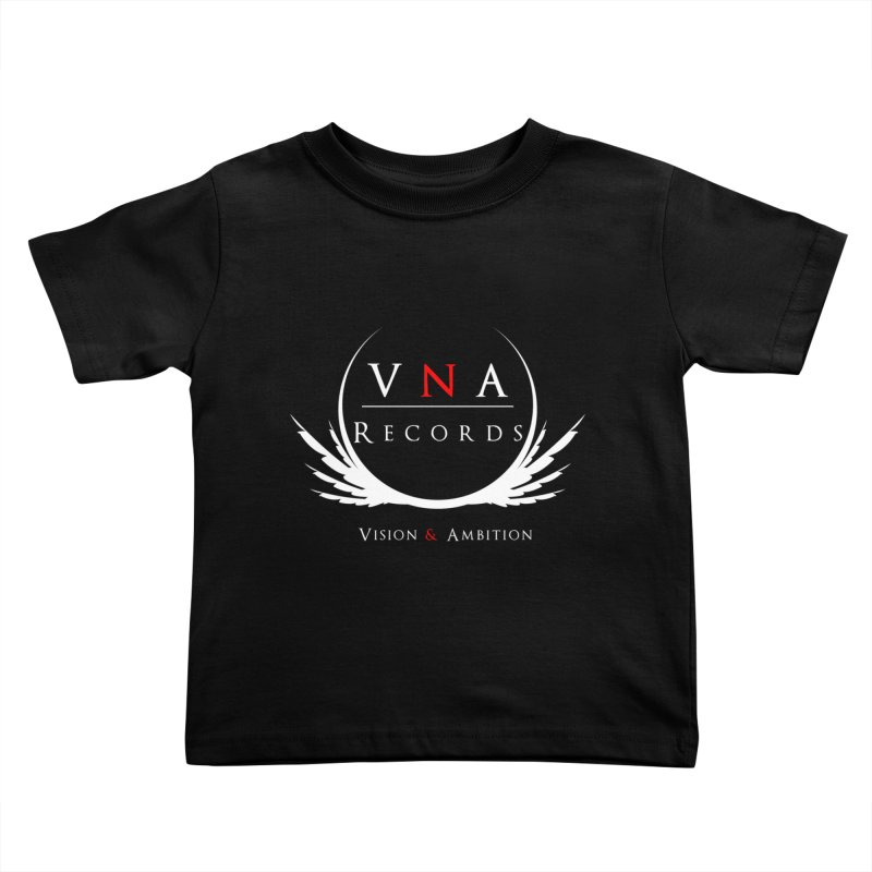 VNA Records Tee Black Kids Toddler T-Shirt by foulal's Artist Shop