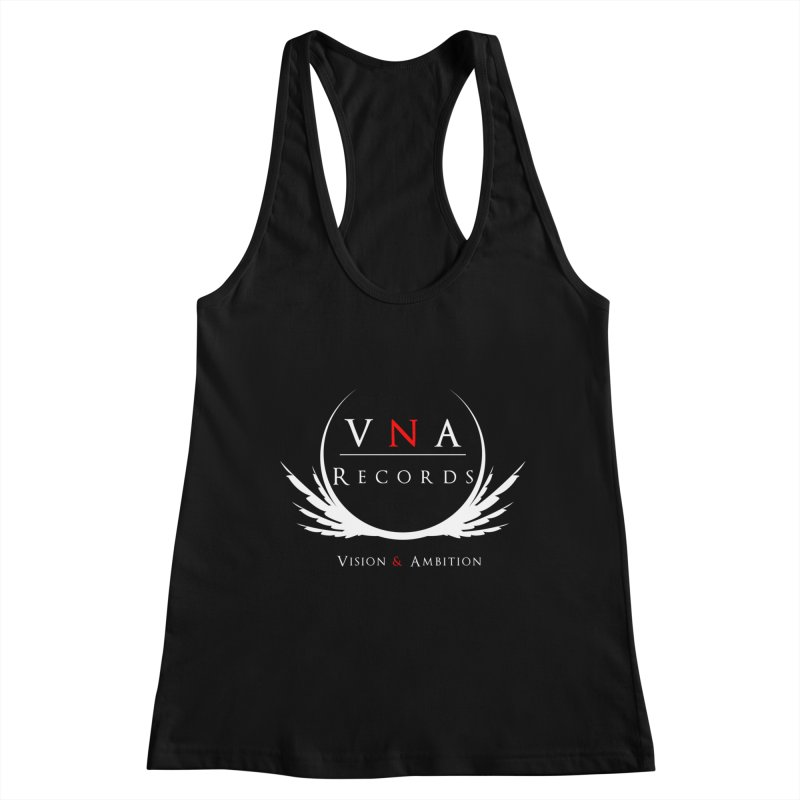 VNA Records Tee Black Women's Racerback Tank by foulal's Artist Shop