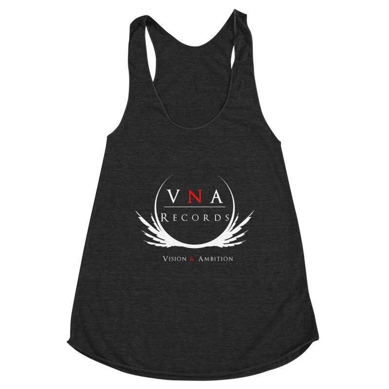 VNA Records Tee Black Women's Racerback Triblend Tank by foulal's Artist Shop