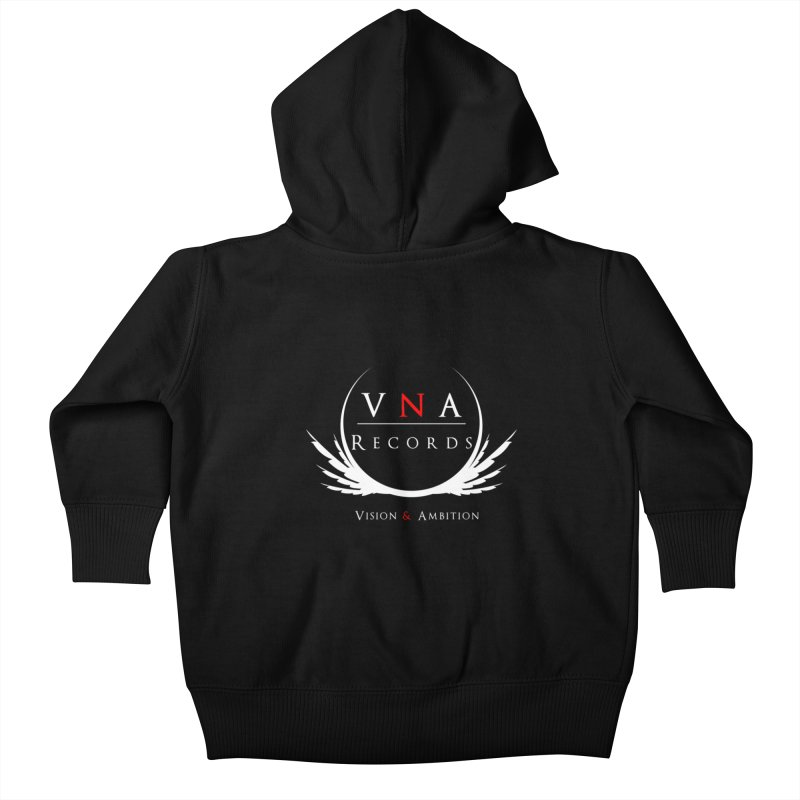 VNA Records Tee Black Kids Baby Zip-Up Hoody by foulal's Artist Shop