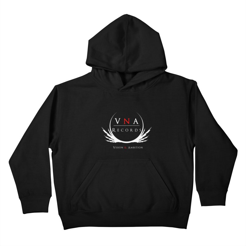 VNA Records Tee Black Kids Pullover Hoody by foulal's Artist Shop