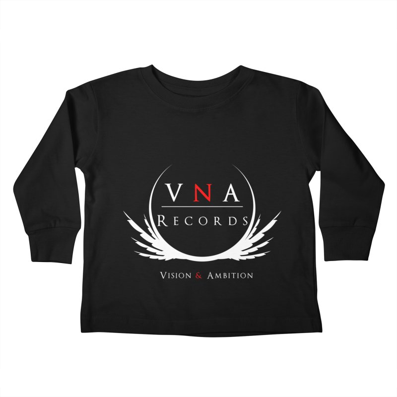 VNA Records Tee Black Kids Toddler Longsleeve T-Shirt by foulal's Artist Shop