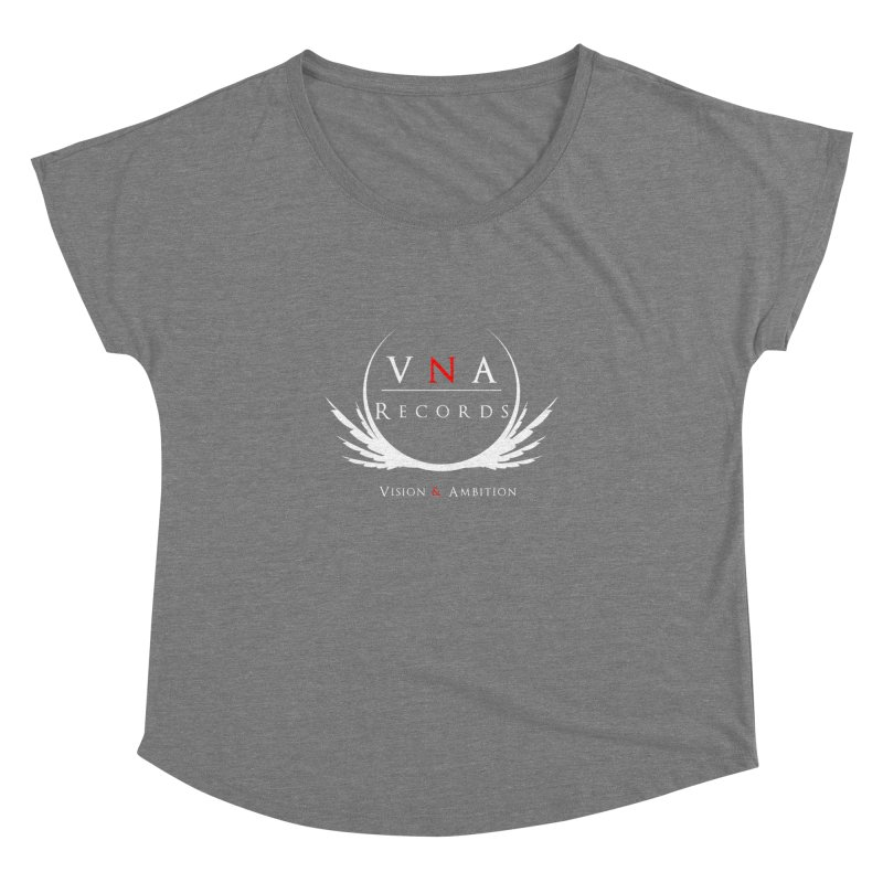 VNA Records Tee Black Women's Dolman Scoop Neck by foulal's Artist Shop