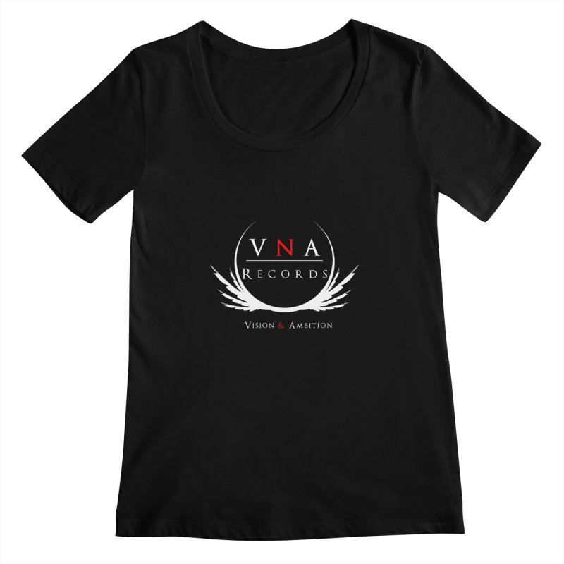 VNA Records Tee Black Women's Scoopneck by foulal's Artist Shop