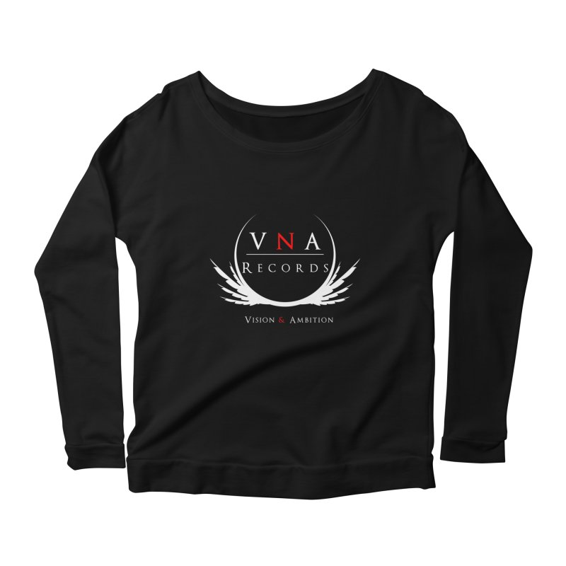 VNA Records Tee Black Women's Longsleeve Scoopneck  by foulal's Artist Shop