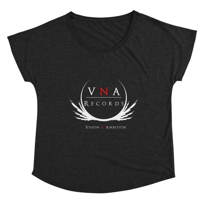 VNA Records Tee Black Women's Dolman Scoop Neck by foulal's Artist Shop