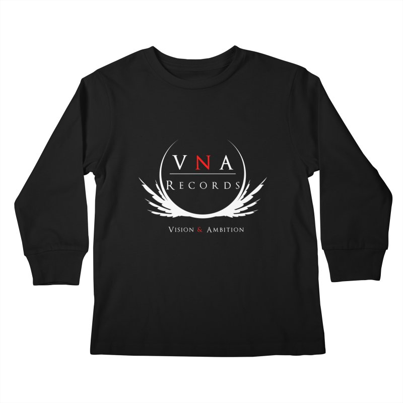 VNA Records Tee Black Kids Longsleeve T-Shirt by foulal's Artist Shop