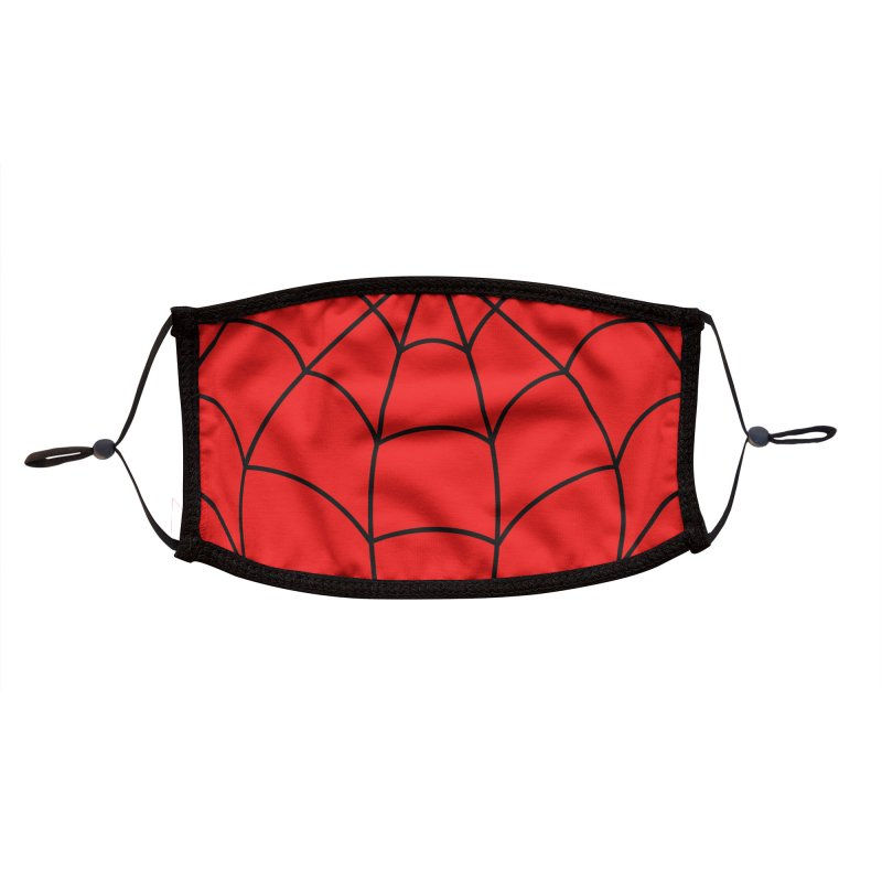 Classic Web Head Accessories Face Mask by foureyedesign shop