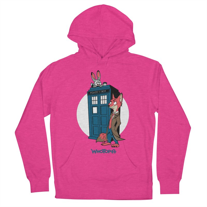 Whotopia Women's French Terry Pullover Hoody by foureyedesign's shop