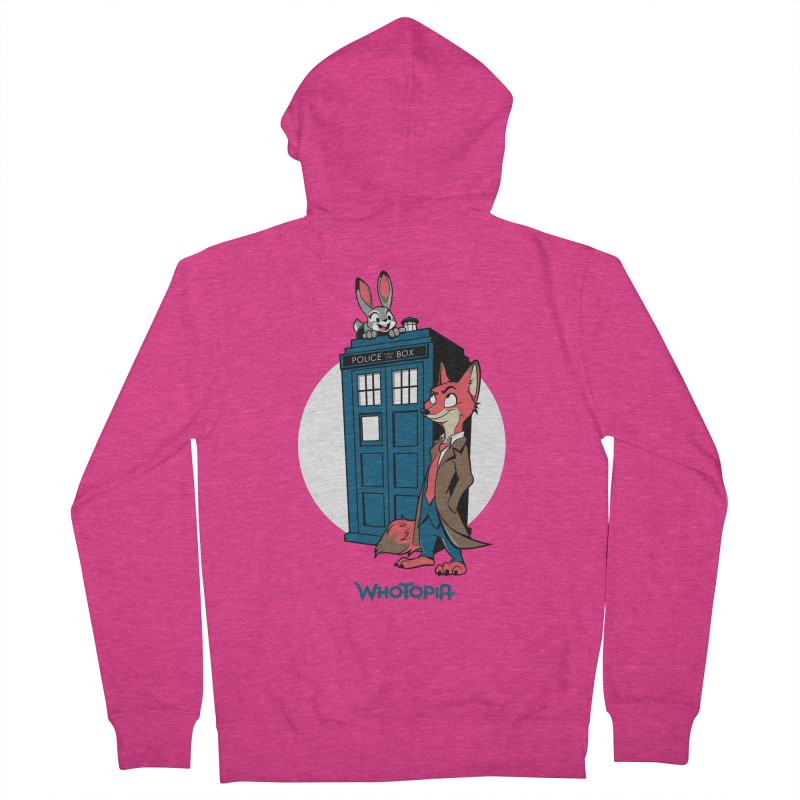 Whotopia Women's Zip-Up Hoody by foureyedesign's shop
