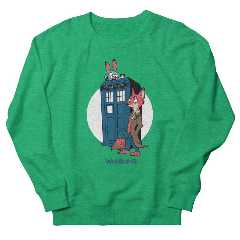 Whotopia Men's French Terry Sweatshirt by foureyedesign's shop