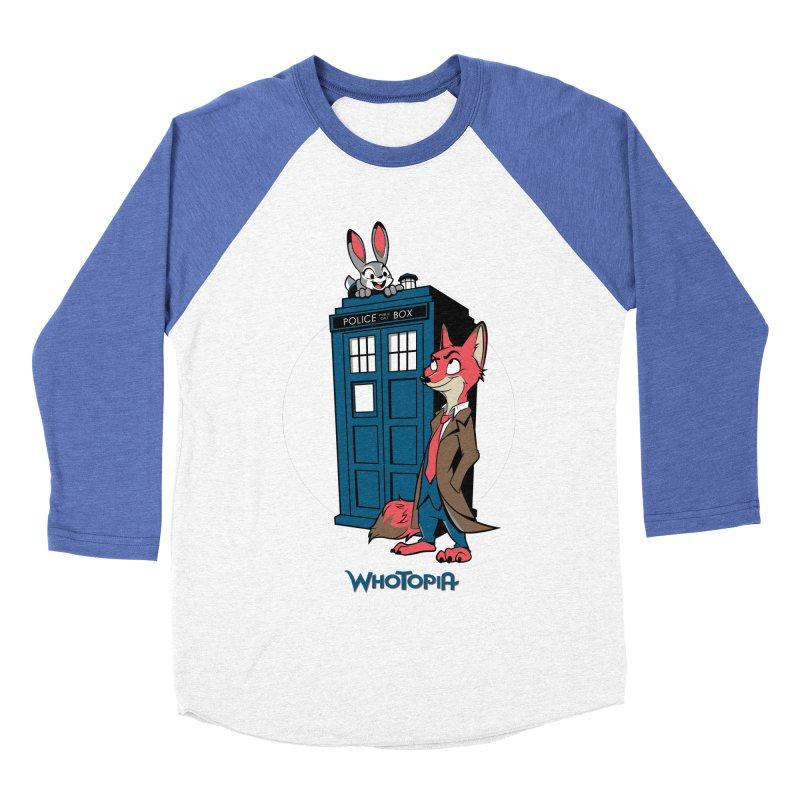Whotopia Women's Baseball Triblend T-Shirt by foureyedesign's shop